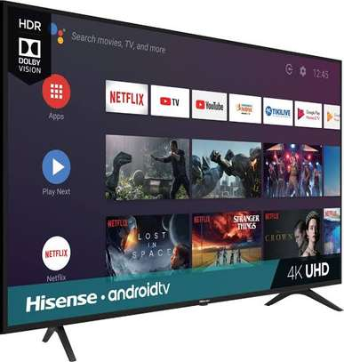 New Hisense 55 inch Android Smart UHD-4K Digital TVs image 1