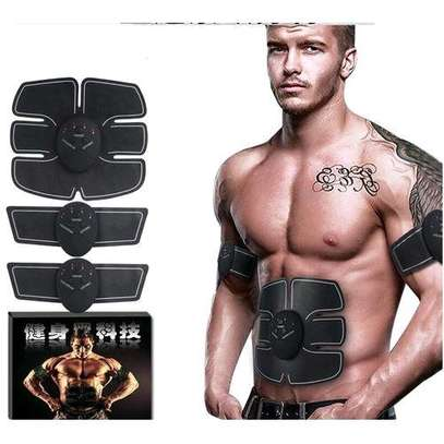 Smart Abs Stimulator Training Fitness Gear Muscle Hands And Abdominal Toning Trainer - Black image 2