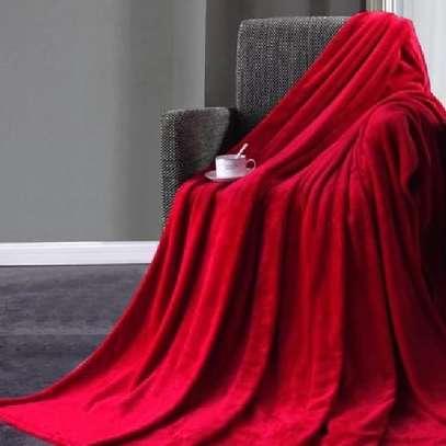 Orange fleece blanket image 1