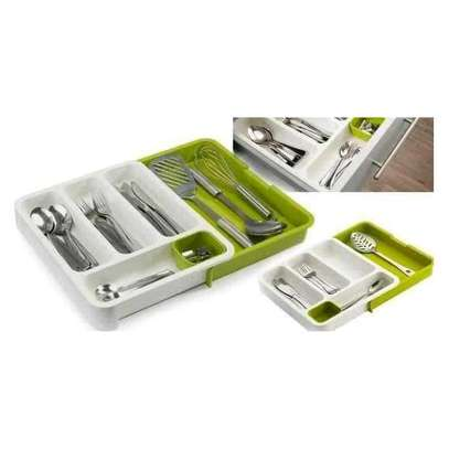 Kitchen Expandable Cutlery Drawer Organizer Tray image 3
