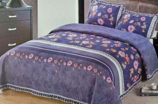 bed cover purple prints 6 by 6 image 1
