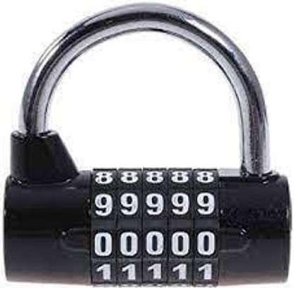 5 Digit Combination Padlock Travel Gym lockers, Doors, cupboards, Drawers Luggage Locker Security Lock image 1