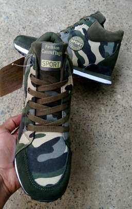 Camouflage Wedge Sneakers
