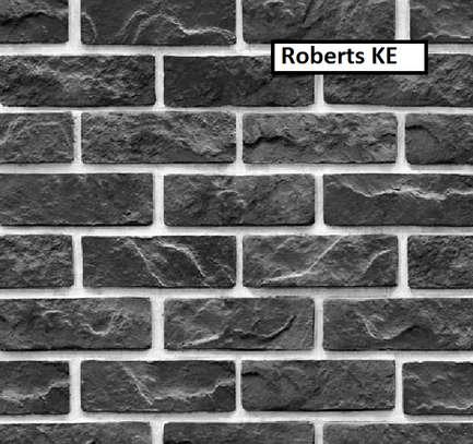 brick grey wallpaper image 1