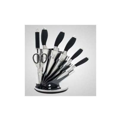 7 Pieces Knife Set + Stand - Black