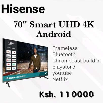 75 Hisense 75 Android UHD Television-black +2 months warranty image 1