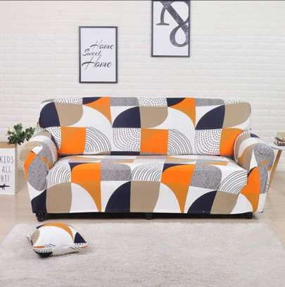Orange print seat covers image 1