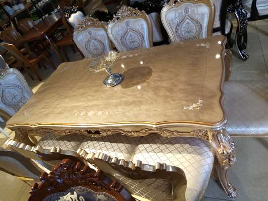 Glass 8Seater Dining table image 2
