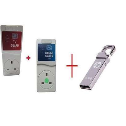 MK Electronics TV Guard +Fridge Guard Mk with FREE 32 GB HPv250w Flash Disk Drive With Clip image 1
