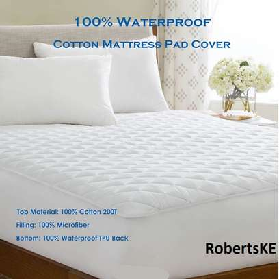 durable waterproof mattress protector plain white 5by6 image 1