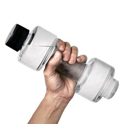 Dumbbell shaped water bottle image 3
