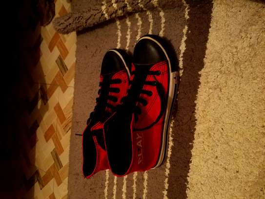 RED AND BLACK SNEAKERS