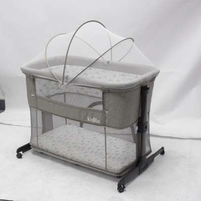 3 in 1 Baby Bassinet, Bedside/Next to Me Sleeper for Baby & Playpen( Grey) image 1