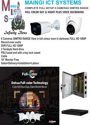 CCTV CAMERAS FULL COLOUR DAY & NIGHT FULL HD1080P WITH AUDIO RECORDING image 1