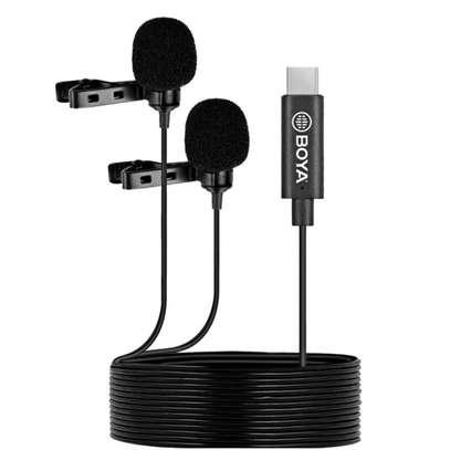 Boya By-m3d Digital Dual-head USB Type-c Lavalier Microphone image 1