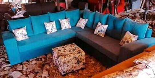 Quality 5 seater Lsofas with modern fabrics image 5