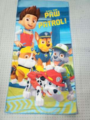 Paw patrol themed kids towels image 1