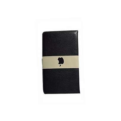 Leather Apple Logo Book Cover Case With In-Pouch For Apple iPad 9.7  2017/2018[5th gen/6th gen] image 3