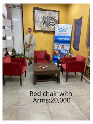 Red office chair with Arms image 1