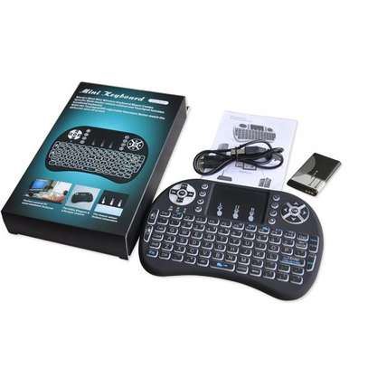 Smart Wireless Keyboard with Touch pad for Smart TV - Black image 1