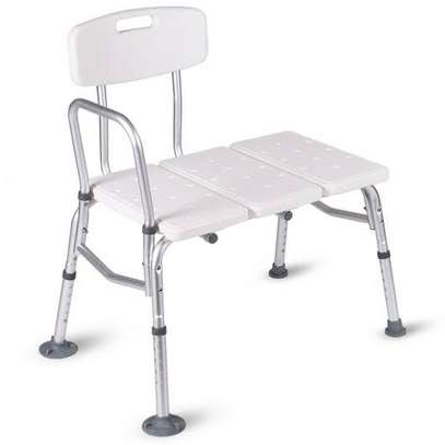 Adjustable Height Shower Transfer Bench (shower chair) image 1