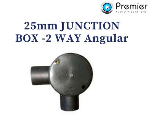 Metsec Junction Box, 2 Way Angular 25mm image 1