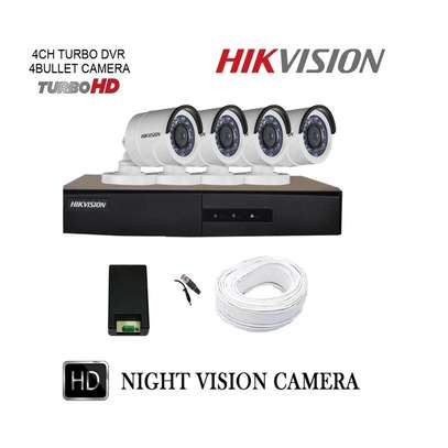 Hikvision 4 Channel  CCTV Camera System Kit with 500GB Hard disk image 1