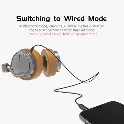 Plextone BT270 smart compatible wireless + wired switching stereo headphone- Golden image 6