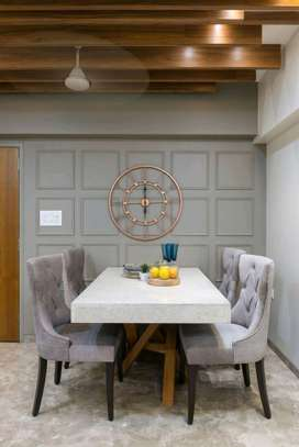 White Six seater dining table for sale in Nairobi Kenya/modern dining sets image 1