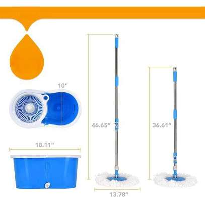 360° spin mop with two mop pads image 3