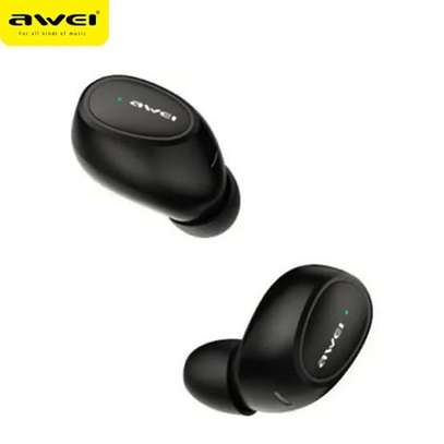AWEI T55 TWS Bluetooth 5.0 Sports Wireless Earphone With Charge Case image 1