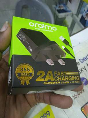 Oraimo Complete Fast Charger in shop(Adapter and Cable) image 1