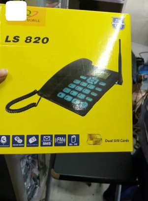 GSM Deskphone With Duo Simcard Slot image 1