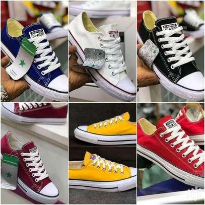 unisex converse rubber shoes, canvas rubber shoes image 1