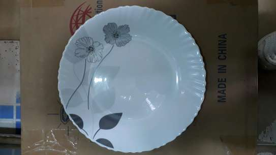 6pc square dinner plate/Round dinner plate/Glass plate/Flowered plates image 9
