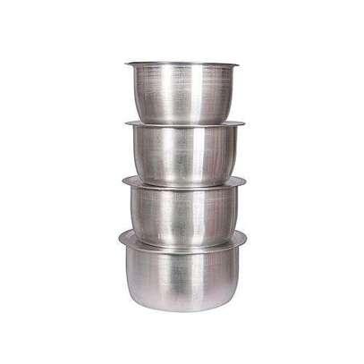 Stainless steel 4piece sufurias image 1