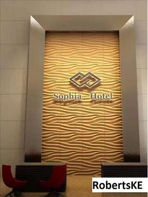 hotel interior  decor 3D wall panel image 2