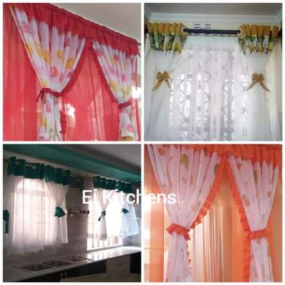 Kitchen curtains and sheers image 1