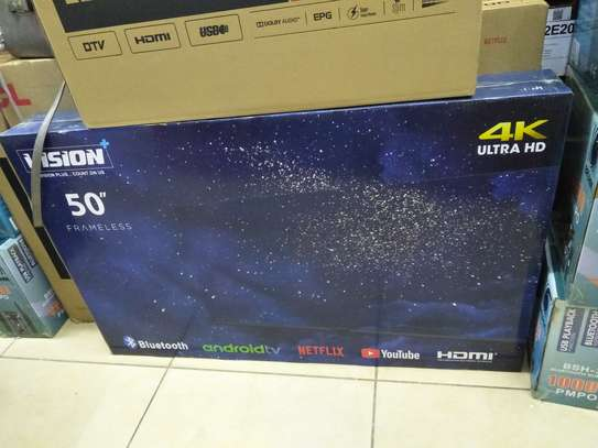 Vision 50 inches smart android Frameless image 1
