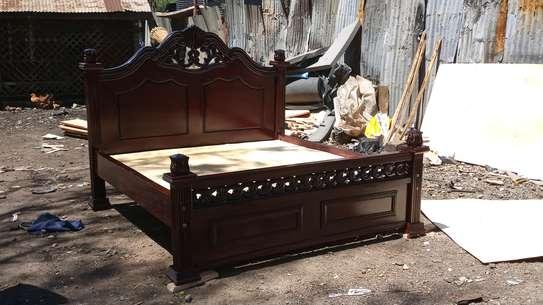 Solid mahogany bed image 3