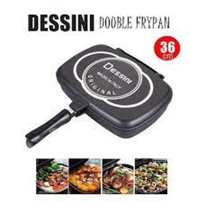 Dessini -40cm Cheap energy saving non stick 40cm double fry pan image 1