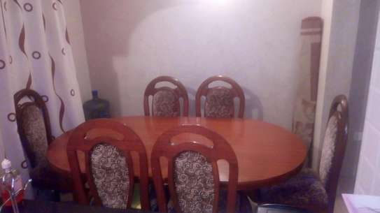 Dinning table with 6 seats and 1 table