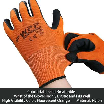 5 pairs Latex Foam Rubber Coated Work Gloves image 2