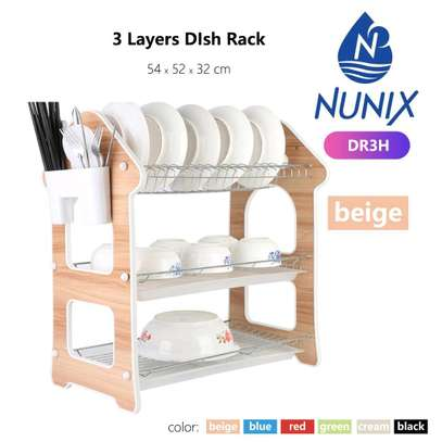 3 Layer Wooden Dish Rack
