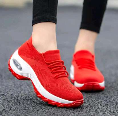 Red sneakers image 1