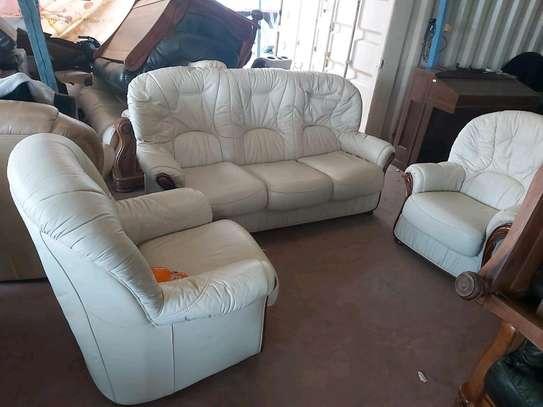 Genuine Ex Uk Leather 5 seater sofa image 3