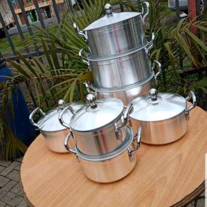 7pc alminium sufuria/Sufuria with handle/cooking pot image 1