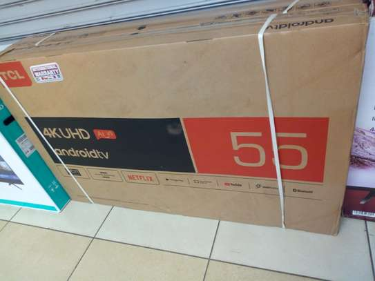 "TCL 55 "" smart android 4k uhd tv"