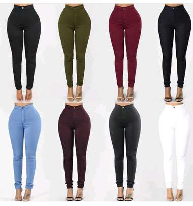Trousers black, white, green, maroon, gray image 1