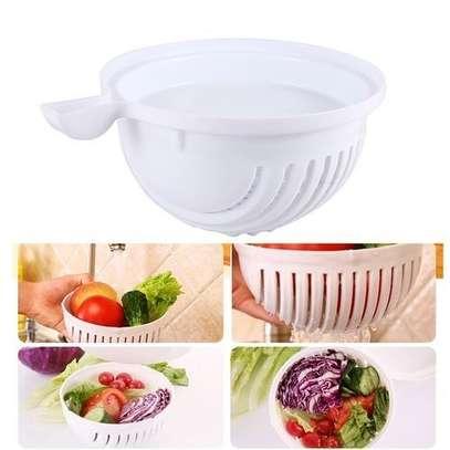 Salad Cutter Bowl - White image 2